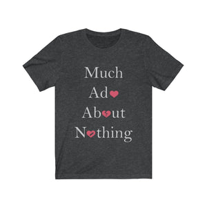 Organization (TRAA) - Thistle Rose Academy of Arts Much Ado About Nothing Cast Unisex Jersey Short Sleeve Tee Dark Grey Heather / XS Men