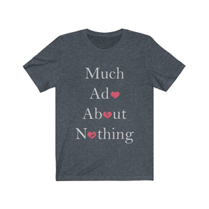 Organization (TRAA) - Thistle Rose Academy of Arts Much Ado About Nothing Cast Unisex Jersey Short Sleeve Tee Heather Navy / XS Men Women