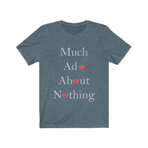 Organization (TRAA) - Thistle Rose Academy of Arts Much Ado About Nothing Cast Unisex Jersey Short Sleeve Tee Heather Slate / XS Men Women