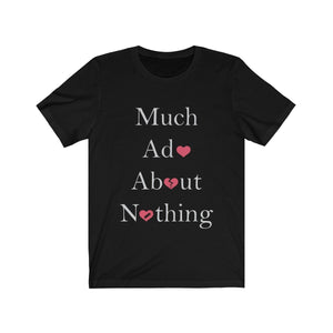 Organization (TRAA) - Thistle Rose Academy of Arts Much Ado About Nothing Cast Unisex Jersey Short Sleeve Tee Solid Black Blend / L Men