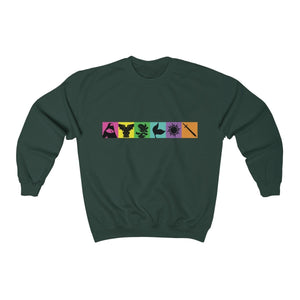 Organization (TRAA) - Thistle Rose Academy of Arts Music by Menken Unisex Heavy Blend Crewneck Sweatshirt Forest Green / S Men Women