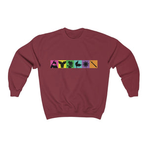 Organization (TRAA) - Thistle Rose Academy of Arts Music by Menken Unisex Heavy Blend Crewneck Sweatshirt Garnet / S Men Women Sweatshirt