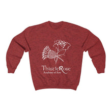 Organization (TRAA) - Thistle Rose Academy of Arts Unisex Heavy Blend Crewneck Sweatshirt Antique Cherry Red / S Men Women Sweatshirt
