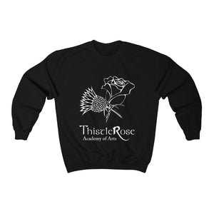 Organization (TRAA) - Thistle Rose Academy of Arts Unisex Heavy Blend Crewneck Sweatshirt Black / L Men Women Sweatshirt