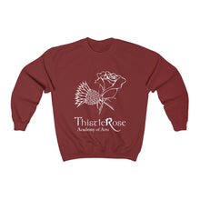 Organization (TRAA) - Thistle Rose Academy of Arts Unisex Heavy Blend Crewneck Sweatshirt Cardinal Red / S Men Women Sweatshirt