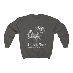 Organization (TRAA) - Thistle Rose Academy of Arts Unisex Heavy Blend Crewneck Sweatshirt Charcoal / S Men Women Sweatshirt