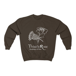 Organization (TRAA) - Thistle Rose Academy of Arts Unisex Heavy Blend Crewneck Sweatshirt Dark Chocolate / S Men Women Sweatshirt