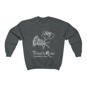 Organization (TRAA) - Thistle Rose Academy of Arts Unisex Heavy Blend Crewneck Sweatshirt Dark Heather / S Men Women Sweatshirt