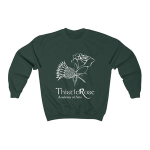 Organization (TRAA) - Thistle Rose Academy of Arts Unisex Heavy Blend Crewneck Sweatshirt Forest Green / S Men Women Sweatshirt