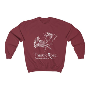 Organization (TRAA) - Thistle Rose Academy of Arts Unisex Heavy Blend Crewneck Sweatshirt Garnet / S Men Women Sweatshirt