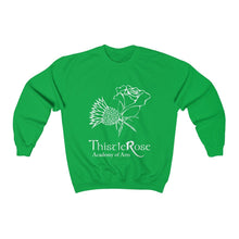 Organization (TRAA) - Thistle Rose Academy of Arts Unisex Heavy Blend Crewneck Sweatshirt Irish Green / S Men Women Sweatshirt
