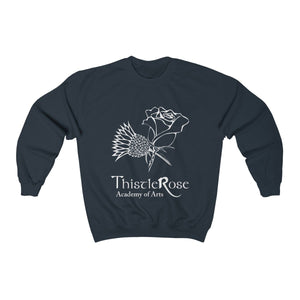 Organization (TRAA) - Thistle Rose Academy of Arts Unisex Heavy Blend Crewneck Sweatshirt Navy / S Men Women Sweatshirt