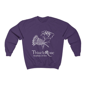 Organization (TRAA) - Thistle Rose Academy of Arts Unisex Heavy Blend Crewneck Sweatshirt Purple / S Men Women Sweatshirt