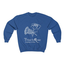 Organization (TRAA) - Thistle Rose Academy of Arts Unisex Heavy Blend Crewneck Sweatshirt Royal / S Men Women Sweatshirt
