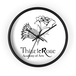 Organization (TRAA) - Thistle Rose Academy of Arts Wall Clock 10 in / Black / Black Home Decor