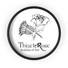 Organization (TRAA) - Thistle Rose Academy of Arts Wall Clock 10 in / Black / White Home Decor