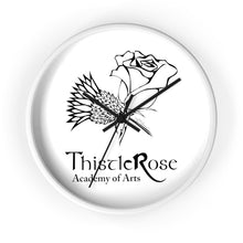 Organization (TRAA) - Thistle Rose Academy of Arts Wall Clock 10 in / White / Black Home Decor