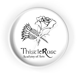 Organization (TRAA) - Thistle Rose Academy of Arts Wall Clock 10 in / White / White Home Decor
