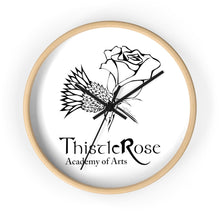 Organization (TRAA) - Thistle Rose Academy of Arts Wall Clock 10 in / Wooden / Black Home Decor