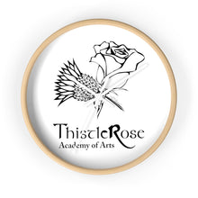 Organization (TRAA) - Thistle Rose Academy of Arts Wall Clock 10 in / Wooden / White Home Decor