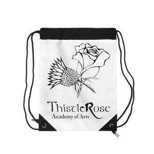 Organization (TRAA) - Thistle Rose Academy of Arts White Drawstring Bag Bags