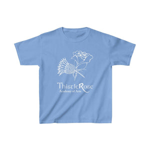 Organization (TRAA) - Thistle Rose Academy of Arts Youth Heavy Cotton Tee Carolina Blue / XS Kids Kids clothes