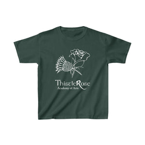 Organization (TRAA) - Thistle Rose Academy of Arts Youth Heavy Cotton Tee Forest Green / XS Kids Kids clothes