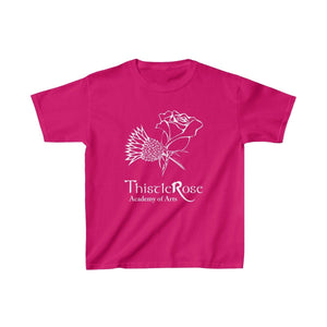 Organization (TRAA) - Thistle Rose Academy of Arts Youth Heavy Cotton Tee Heliconia / XS Kids Kids clothes