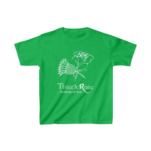 Organization (TRAA) - Thistle Rose Academy of Arts Youth Heavy Cotton Tee Irish Green / XS Kids Kids clothes