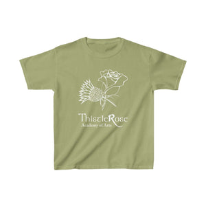 Organization (TRAA) - Thistle Rose Academy of Arts Youth Heavy Cotton Tee Kiwi / XS Kids Kids clothes