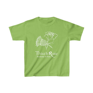 Organization (TRAA) - Thistle Rose Academy of Arts Youth Heavy Cotton Tee Lime / XS Kids Kids clothes