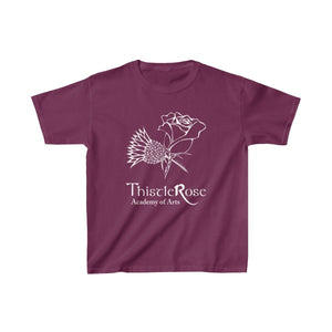 Organization (TRAA) - Thistle Rose Academy of Arts Youth Heavy Cotton Tee Maroon / XS Kids Kids clothes