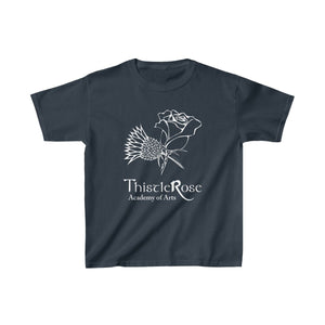 Organization (TRAA) - Thistle Rose Academy of Arts Youth Heavy Cotton Tee Navy / XS Kids Kids clothes