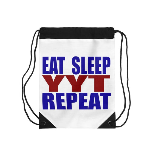 Organization (YYT) - Ypsilanti Youth Theatre Eat Sleep YYT Repeat Drawstring Bag One Size Bags