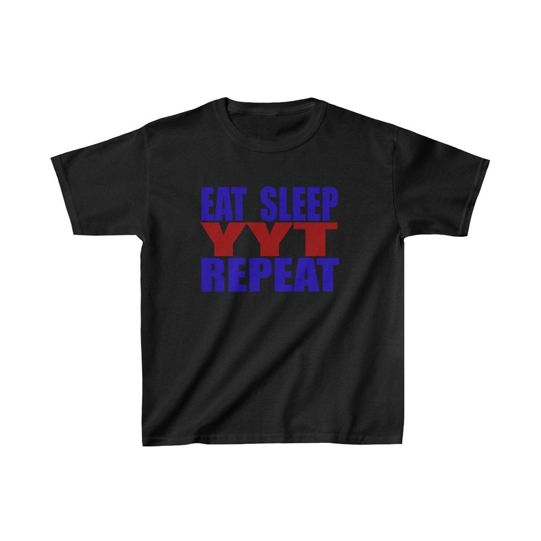 Organization (YYT) - Ypsilanti Youth Theatre Eat Sleep YYT Repeat Kids Heavy Cotton Tee L / Black Kids clothes