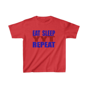 Organization (YYT) - Ypsilanti Youth Theatre Eat Sleep YYT Repeat Kids Heavy Cotton Tee XS / Red Kids clothes