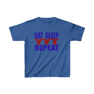 Organization (YYT) - Ypsilanti Youth Theatre Eat Sleep YYT Repeat Kids Heavy Cotton Tee XS / Royal Kids clothes