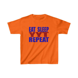 Organization (YYT) - Ypsilanti Youth Theatre Eat Sleep YYT Repeat Kids Heavy Cotton Tee XS / Safety Orange Kids clothes