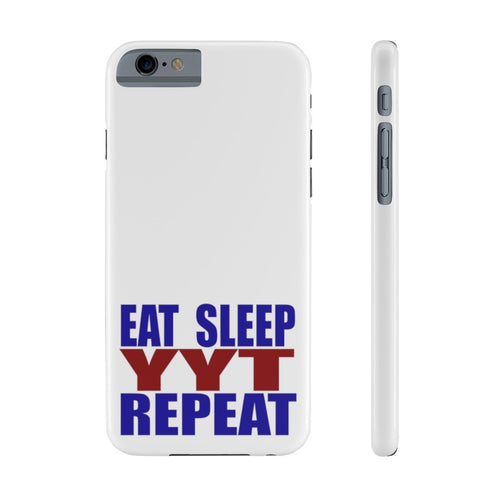 Organization (YYT) - Ypsilanti Youth Theatre Eat Sleep YYT Repeat Slim Phone Cases iPhone 6/6S Slim Phone Case
