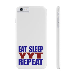 Organization (YYT) - Ypsilanti Youth Theatre Eat Sleep YYT Repeat Slim Phone Cases iPhone 6/6s Plus Slim Phone Case