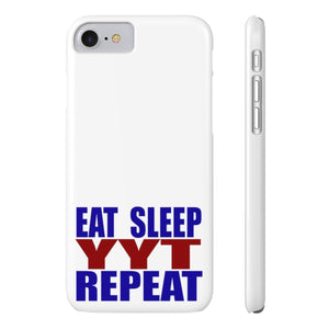 Organization (YYT) - Ypsilanti Youth Theatre Eat Sleep YYT Repeat Slim Phone Cases iPhone 7 iPhone 8 Slim Phone Case