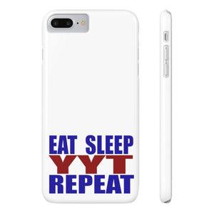 Organization (YYT) - Ypsilanti Youth Theatre Eat Sleep YYT Repeat Slim Phone Cases iPhone 7 Plus iPhone 8 Plus Slim Phone Case