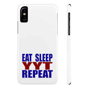 Organization (YYT) - Ypsilanti Youth Theatre Eat Sleep YYT Repeat Slim Phone Cases iPhone X Slim Phone Case