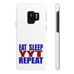 Organization (YYT) - Ypsilanti Youth Theatre Eat Sleep YYT Repeat Slim Phone Cases Samsung Galaxy S9 Slim Phone Case