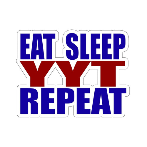 Organization (YYT) - Ypsilanti Youth Theatre Eat Sleep YYT Repeat Stickers 2x2 / White Paper products