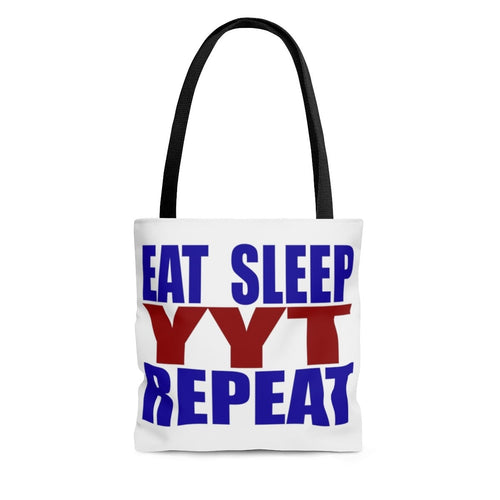 Organization (YYT) - Ypsilanti Youth Theatre Eat Sleep YYT Repeat Tote Bag Large Bags