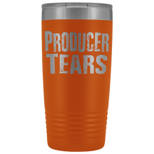 Producer Tears - 20oz Stainless Steel Insulated Tumblers Orange Tumblers