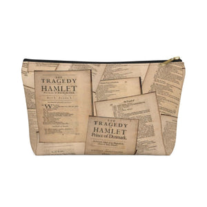 Shakespeare Hamlet - Accessory Pouch With T-Bottom Black / Large Bags