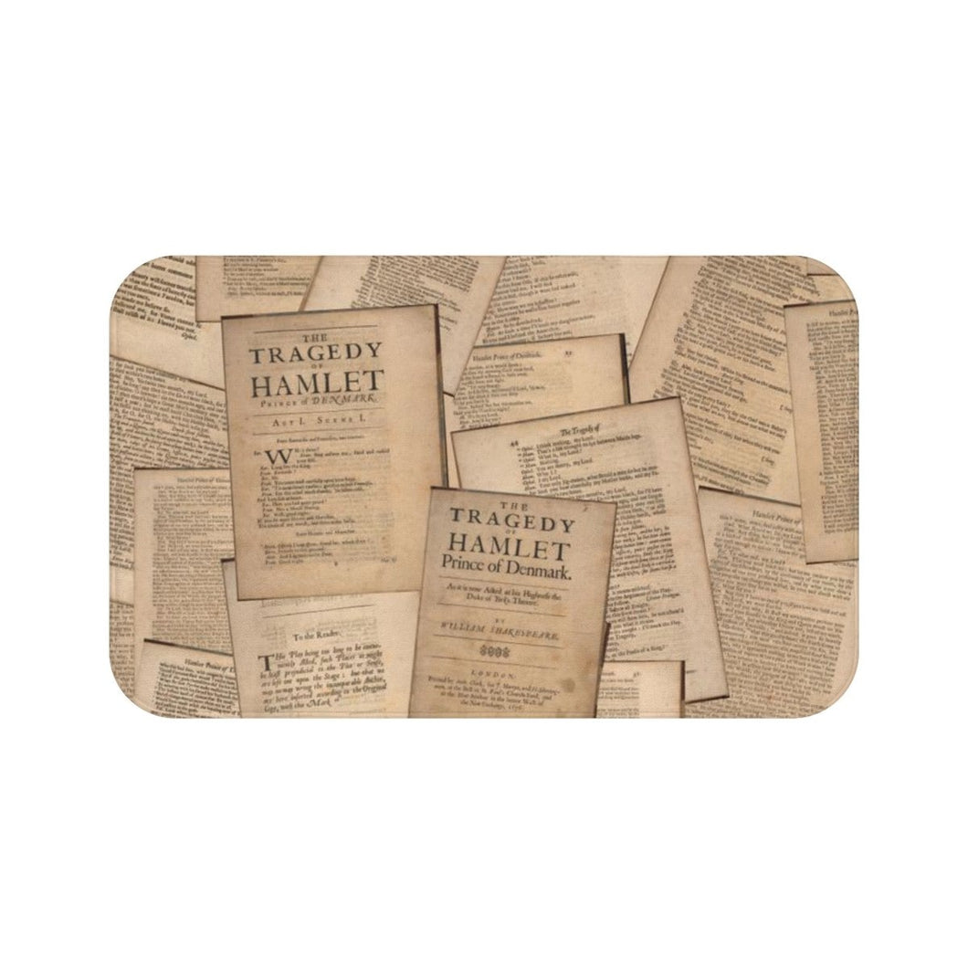 Shakespeare Hamlet - Bath Mat Large 34X21 Home Decor