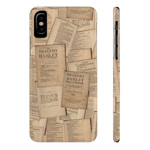 Shakespeare Hamlet - Case Mate Slim Phone Cases Iphone X